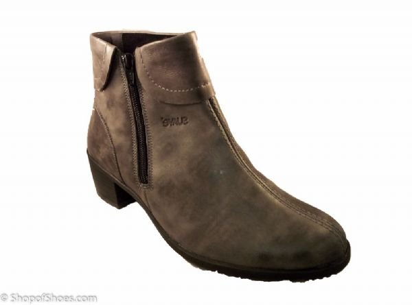 Alicia soft leather grey zip ladies ankle boot.